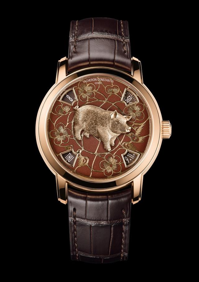 Hai mẫu đồng hồ chào đón năm mới Kỷ Hợi chinh phục giới thượng lưu: Biểu tượng lợn vàng xuất hiện đầy ấn tượng!  - Ảnh 3.