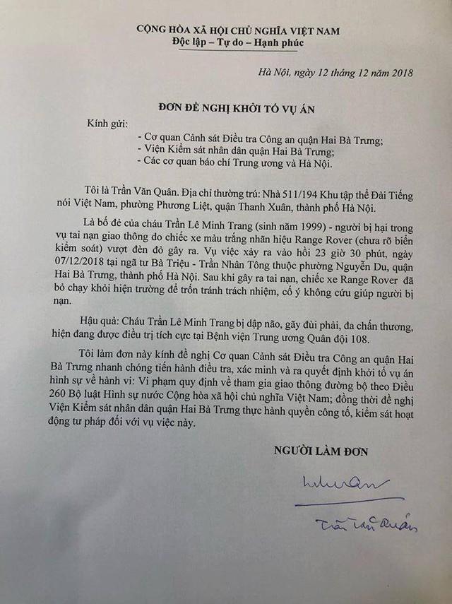 Nóng: Đã bắt được lái xe Range Rover đâm nữ sinh ở Bà Triệu - Ảnh 2.