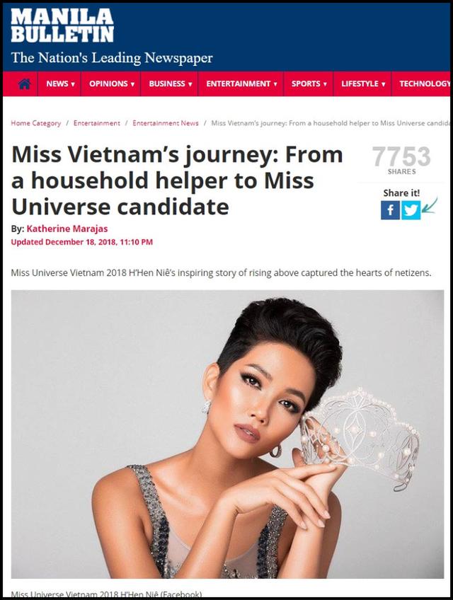 Hàng loạt báo quốc tế hết lời khen ngợi H'Hen Niê sau thành tích tại Miss Universe 2018 - Ảnh 4.