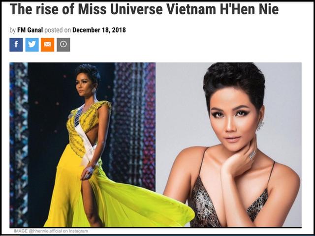 Hàng loạt báo quốc tế hết lời khen ngợi H'Hen Niê sau thành tích tại Miss Universe 2018 - Ảnh 5.