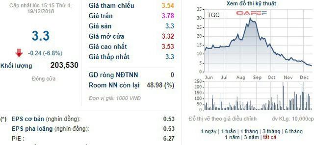 TGG mất gần 90% giá trị trong vòng 4 tháng, con trai Chủ tịch tranh thủ gom hàng - Ảnh 1.