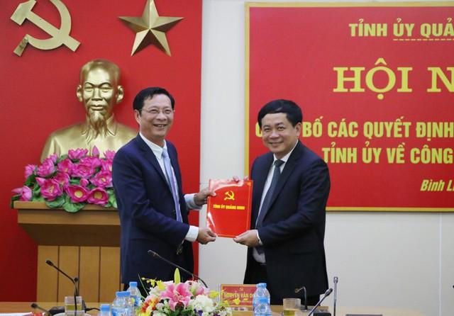Thường vụ Tỉnh ủy Quảng Ninh điều động, bổ nhiệm nhân sự - Ảnh 1.