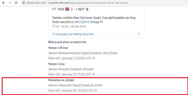 LĐBĐ Châu Á nhầm lẫn, bỏ quên đội tuyển Việt Nam tại Asian Cup 2019 - Ảnh 1.
