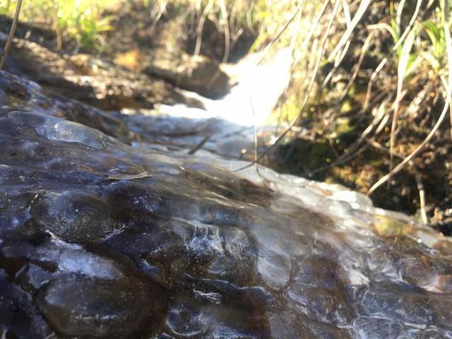 Đỉnh núi Fansipan lạnh 0 độ, nước suối đóng thành băng - Ảnh 1.