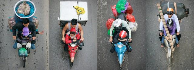 Hình ảnh Người Hà Nội đi xe máy bỗng trở nên vô cùng ấn tượng với góc máy trên cao - Ảnh 12.