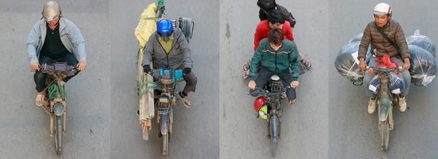 Hình ảnh Người Hà Nội đi xe máy bỗng trở nên vô cùng ấn tượng với góc máy trên cao - Ảnh 13.