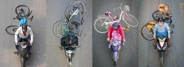 Hình ảnh Người Hà Nội đi xe máy bỗng trở nên vô cùng ấn tượng với góc máy trên cao - Ảnh 14.