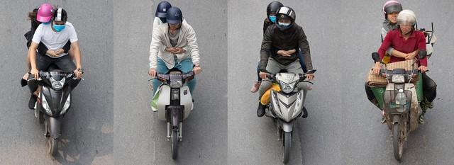 Hình ảnh Người Hà Nội đi xe máy bỗng trở nên vô cùng ấn tượng với góc máy trên cao - Ảnh 3.