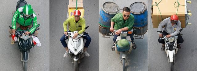 Hình ảnh Người Hà Nội đi xe máy bỗng trở nên vô cùng ấn tượng với góc máy trên cao - Ảnh 4.