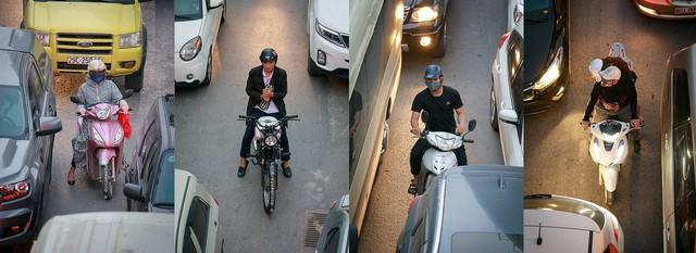 Hình ảnh Người Hà Nội đi xe máy bỗng trở nên vô cùng ấn tượng với góc máy trên cao - Ảnh 6.