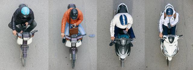 Hình ảnh Người Hà Nội đi xe máy bỗng trở nên vô cùng ấn tượng với góc máy trên cao - Ảnh 7.