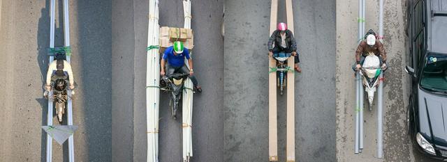 Hình ảnh Người Hà Nội đi xe máy bỗng trở nên vô cùng ấn tượng với góc máy trên cao - Ảnh 8.