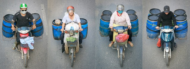 Hình ảnh Người Hà Nội đi xe máy bỗng trở nên vô cùng ấn tượng với góc máy trên cao - Ảnh 9.