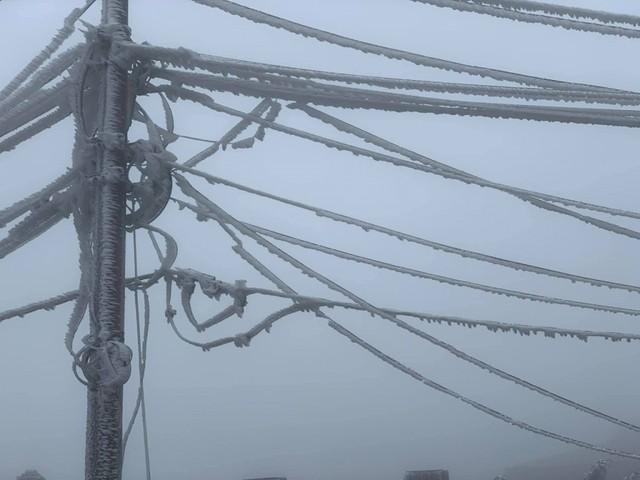 Băng tuyết phủ trắng nhà cửa, xe cộ ở đỉnh Mẫu Sơn - Ảnh 8.