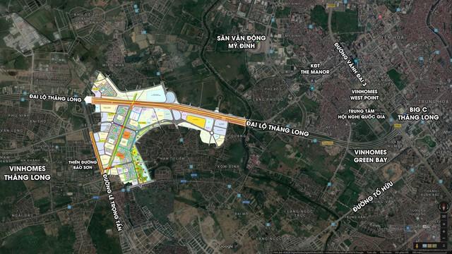 Soi vị trí chính xác đại đô thị VinCity Sportia của Tập đoàn Vingroup trên trục Đại lộ Thăng Long - Ảnh 1.