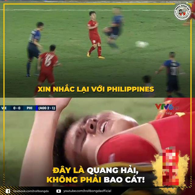 Những bức ảnh ấn tượng trong trận bán kết Việt Nam - Philippines trở thành nguồn cảm hứng chế bất tận của người hâm mộ - Ảnh 3.