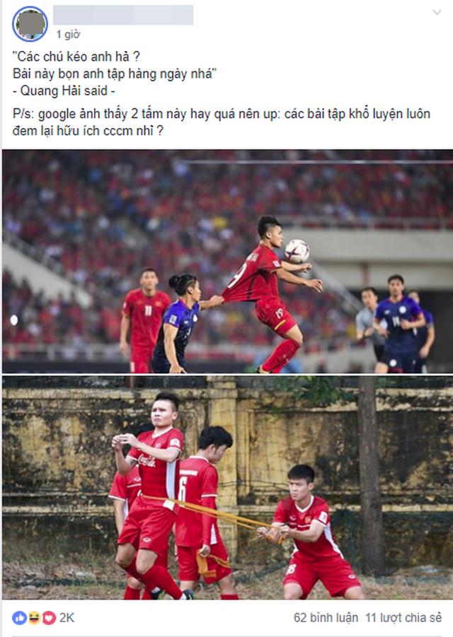 Khoảnh khắc Quang Hải bị cầu thủ Philippines kéo áo được chia sẻ mạnh, nhưng bài tập tiên tri của thầy Park mới gây chú ý - Ảnh 3.