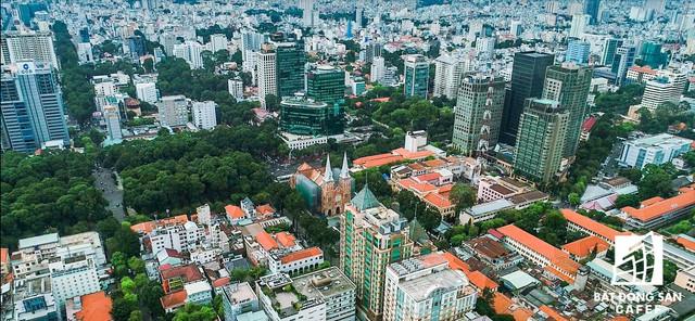 Toàn cảnh nhìn từ trên cao khu đất vàng ngay trung tâm Sài Gòn liên quan đến cựu Phó chủ tịch UBND TP.HCM Nguyễn Thành Tài - Ảnh 1.