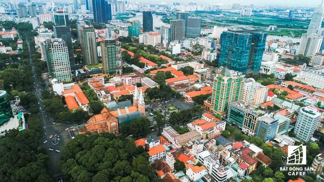 Toàn cảnh nhìn từ trên cao khu đất vàng ngay trung tâm Sài Gòn liên quan đến cựu Phó chủ tịch UBND TP.HCM Nguyễn Thành Tài - Ảnh 2.