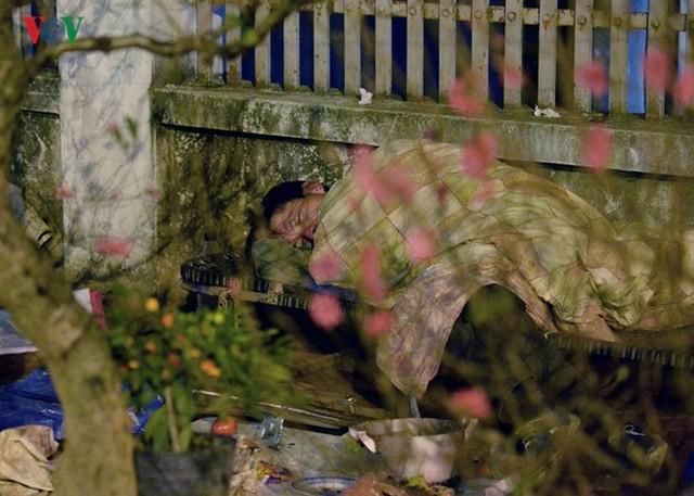 Ảnh: Tê cóng trong đêm Hà Nội lạnh dưới 10 độ C trông cây cảnh Tết - Ảnh 11.
