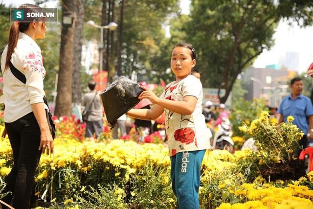 Không bán hết hàng trưa 30 Tết, tiểu thương dùng gậy đập nát chậu hoa, vứt vào thùng rác - Ảnh 13.