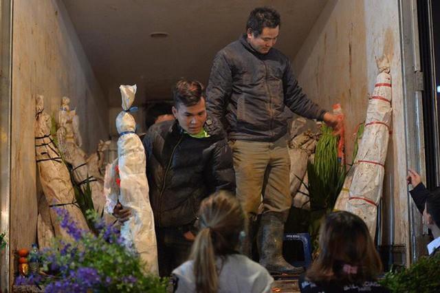 [ẢNH] Tấp nập chợ hoa Quảng An đêm trước Giao thừa - Ảnh 7.