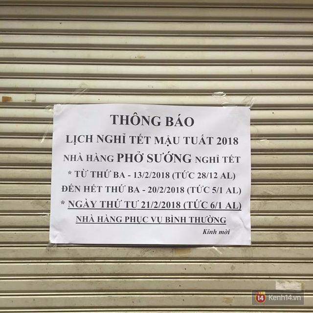 Lịch mở cửa Tết của hàng quán bình dân ở Hà Nội: các hàng nổi tiếng nghỉ rất lâu - Ảnh 12.