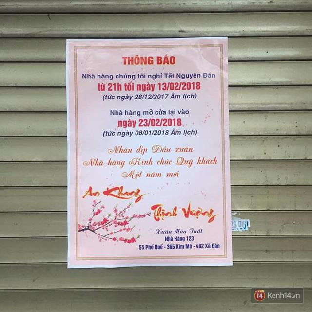 Lịch mở cửa Tết của hàng quán bình dân ở Hà Nội: các hàng nổi tiếng nghỉ rất lâu - Ảnh 9.
