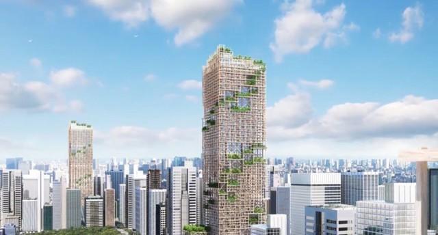Nhật Bản lên kế hoạch xây tòa nhà chọc trời bằng gỗ cao nhất địa cầu - Ảnh 1.