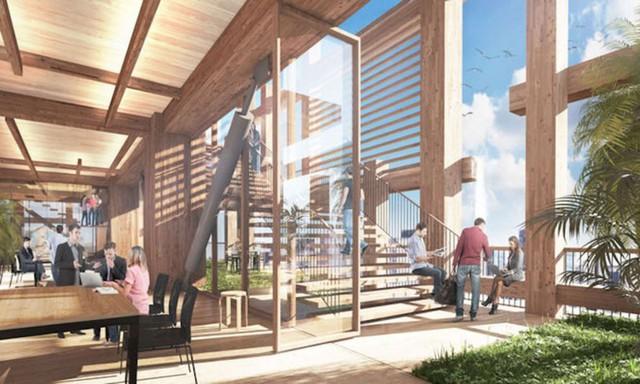 Nhật Bản lên kế hoạch xây tòa nhà chọc trời bằng gỗ cao nhất địa cầu - Ảnh 2.