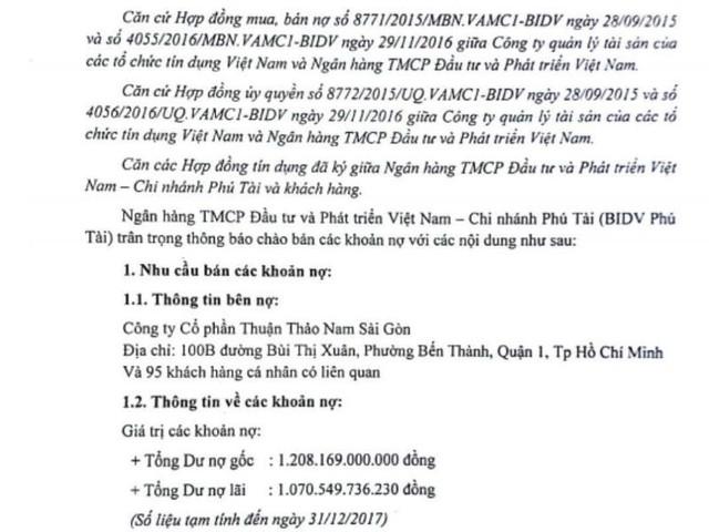 Nợ đầm đìa, Thuận Thảo Nam Sài Gòn bị phát mãi vô số dự án BĐS ở TP.HCM - Ảnh 1.