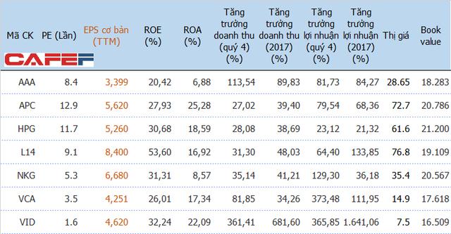 Những cổ phiếu của các doanh nghiệp có mức tăng trưởng doanh thu, lợi nhuận trên 20%, ROE trên 20%, P/E dưới 13 lần - Ảnh 1.