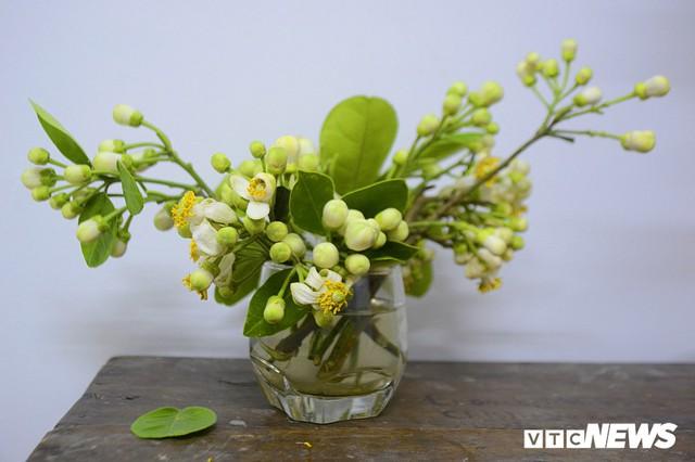 Hoa bưởi đầu mùa, giá tới 300.000 đồng/kg vẫn hút khách Hà Nội - Ảnh 14.