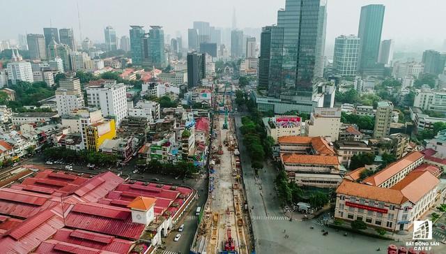 Toàn cảnh 20km tuyến đường sắt metro số 1 Bến Thành - Suối Tiên đang dần thành hình - Ảnh 6.