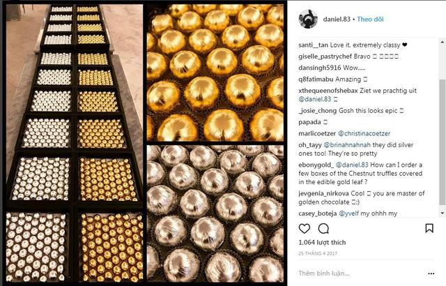 Viên socola đẳng cấp được bọc vàng, bọc bạc khiến cộng đồng mạng Instagram lóa mắt - Ảnh 2.