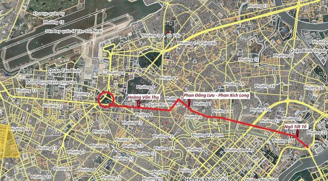 TP.HCM đề xuất xây dựng đường trên cao kết nối với sân bay Tân Sơn Nhất - Ảnh 1.