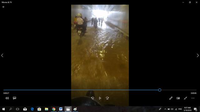 Hầm chui hơn 100 tỉ đồng ở Đà Nẵng vừa khánh thành đã ngập nước dù trời không mưa - Ảnh 1.