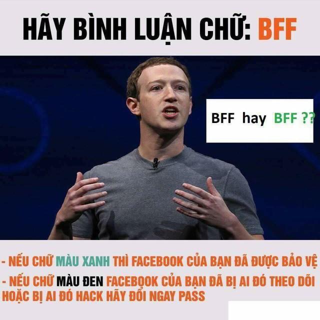 Cư dân mạng đồng loạt bình luận BFF để xác minh Facebook của mình được bảo vệ hay bị ai đó hack, theo dõi - Ảnh 2.