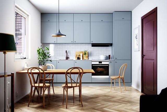 Những mẫu thiết kế nhà bếp đẹp mê li cho cô nàng thích màu xanh - Ảnh 2.