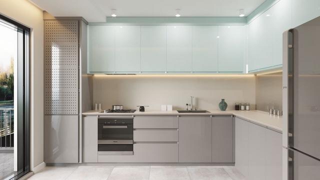 Những mẫu thiết kế nhà bếp đẹp mê li cho cô nàng thích màu xanh - Ảnh 12.