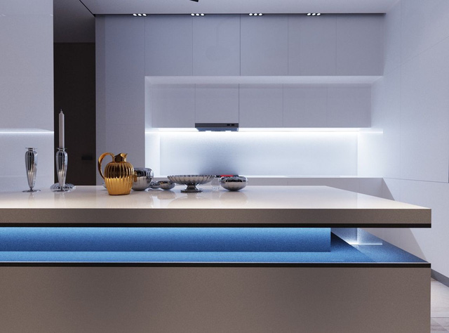 Những mẫu thiết kế nhà bếp đẹp mê li cho cô nàng thích màu xanh - Ảnh 10.