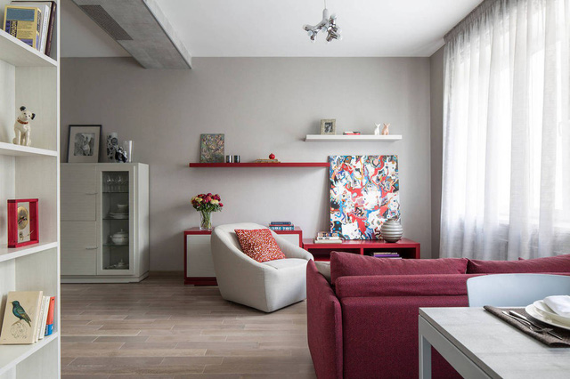 Mê mẩn có căn hộ chung cư 65m2 kiến trúc ấn tượng - Ảnh 1.