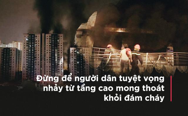 Đại tá Tuấn: Khi báo cháy, đường ống nước dùng cho PCCC ở chung cư bục hết - Ảnh 1.