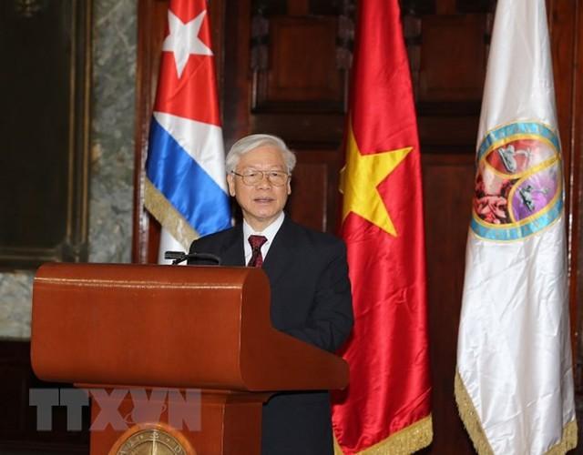 Tổng Bí thư Nguyễn Phú Trọng nhận Bằng Tiến sỹ danh dự tại Cuba - Ảnh 1.