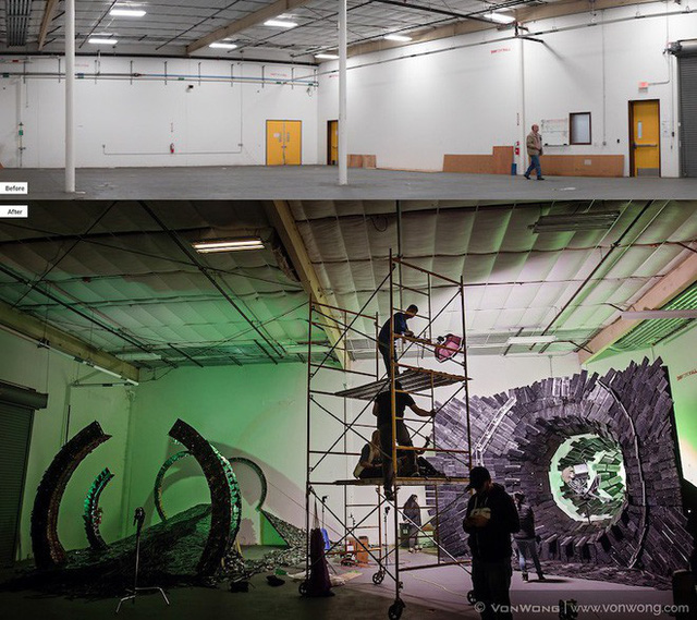 Nhóm nghệ sĩ biến gần 2 tấn rác thải điện tử thành những tác phẩm nghệ thuật tuyệt đẹp - Ảnh 3.