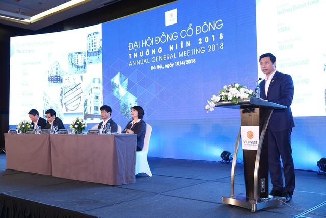 ĐHCĐ Văn Phú Invest (VPI): Đặt mục tiêu tổng doanh thu 2018 tăng 2,7 lần, dự kiến cổ tức 16% và chuyển niêm yết sang HoSE - Ảnh 1.