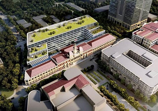 Lấy ý kiến thiết kế mở rộng trụ sở UBND TP.HCM - Ảnh 1.