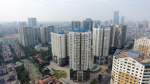 Ngộp thở ở những khu chung cư dày đặc, chọc trời giữa Thủ đô - Ảnh 1.