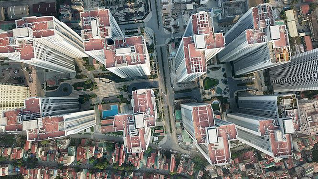 Ngộp thở ở những khu chung cư dày đặc, chọc trời giữa Thủ đô - Ảnh 8.