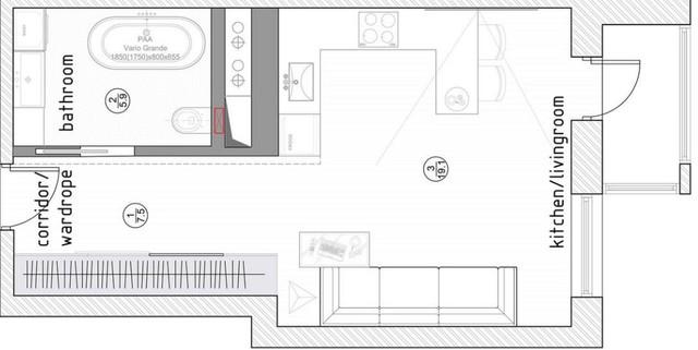 Chỉ vẻn vẹn 30m2 nhưng căn hộ chung cư này đang làm đốn tim nhiều khách hàng trẻ - Ảnh 12.